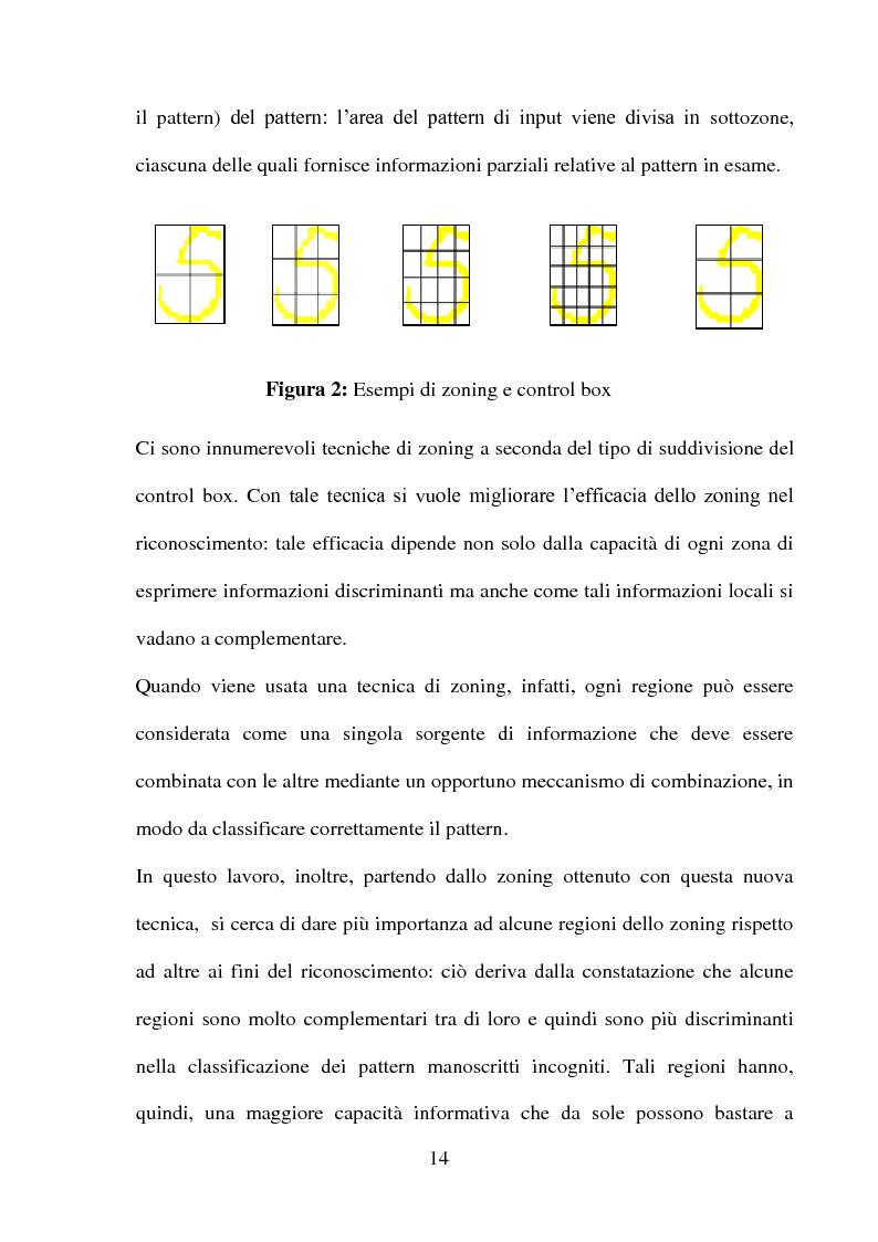 Anteprima della tesi: Una panoramica degli algoritmi di zoning nel riconoscimento dei caratteri manoscritti, Pagina 10
