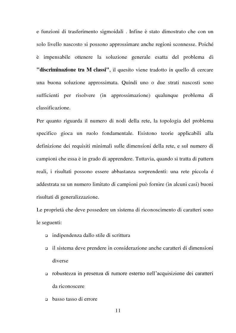 Anteprima della tesi: Una panoramica degli algoritmi di zoning nel riconoscimento dei caratteri manoscritti, Pagina 7
