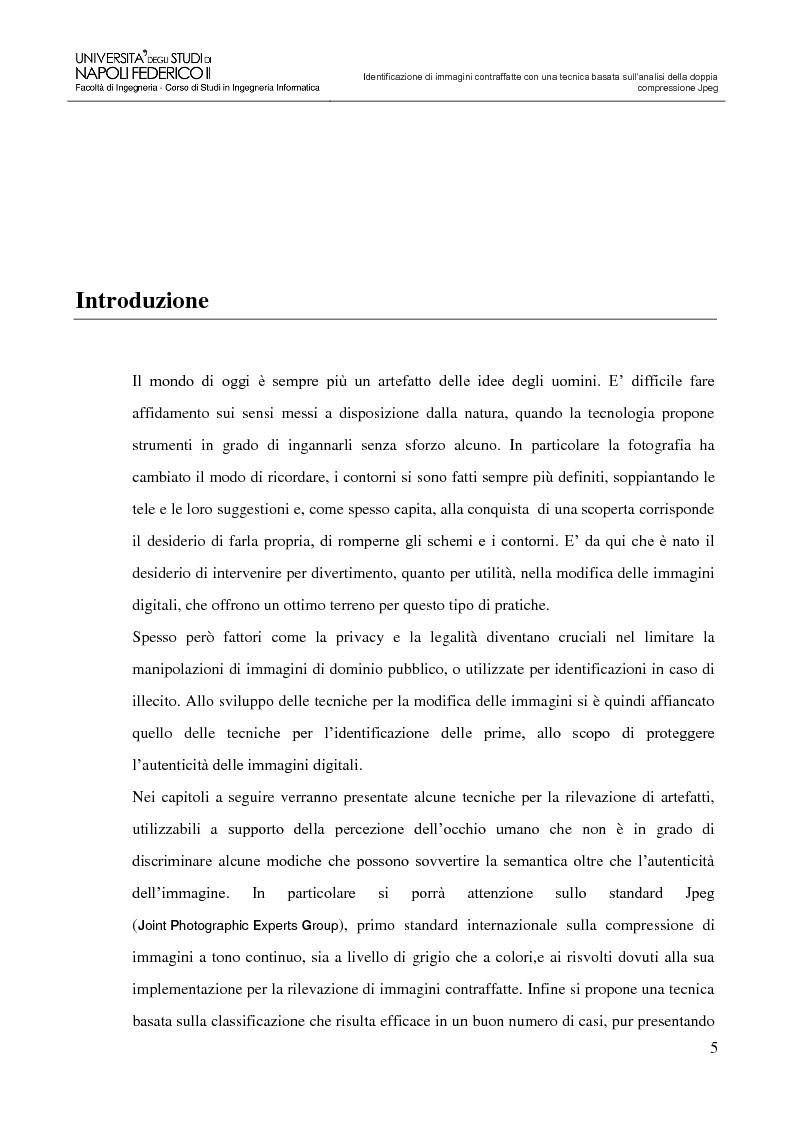 Anteprima della tesi: Identificazione di immagini contraffatte con una tecnica basata sull'analisi della doppia compressione Jpeg nello spazio di colori YCbCr, Pagina 2