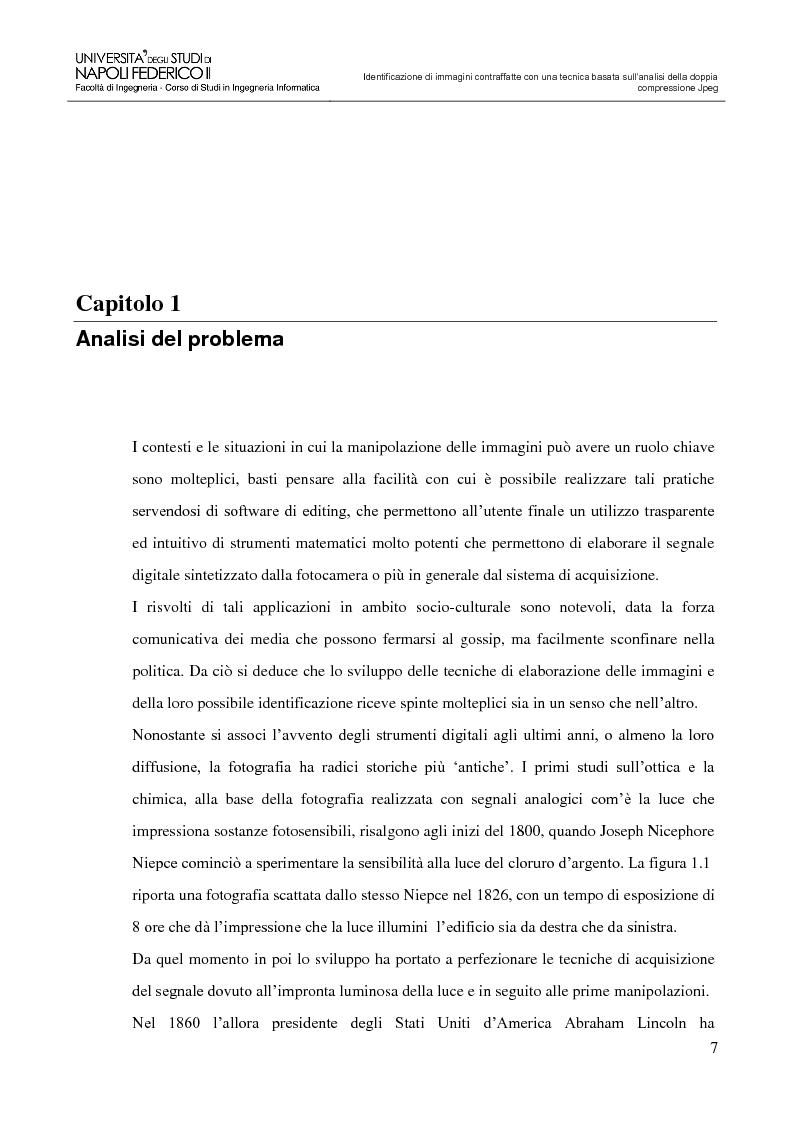 Anteprima della tesi: Identificazione di immagini contraffatte con una tecnica basata sull'analisi della doppia compressione Jpeg nello spazio di colori YCbCr, Pagina 4