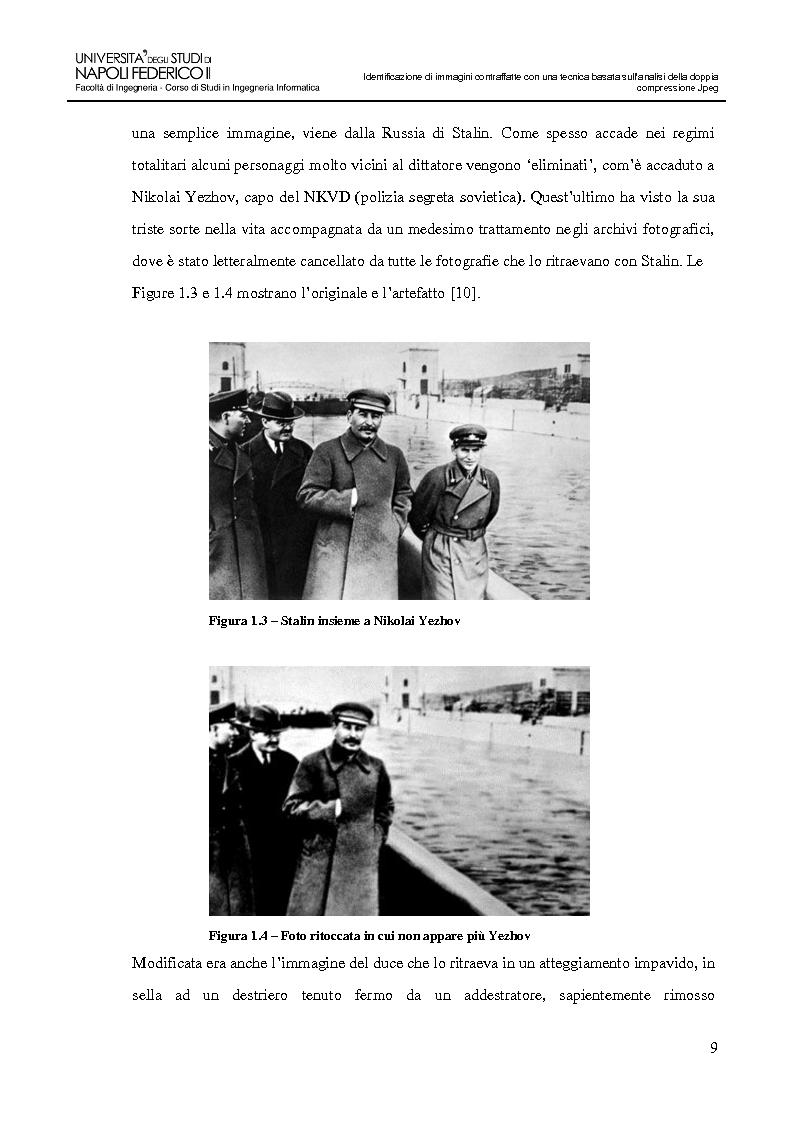 Anteprima della tesi: Identificazione di immagini contraffatte con una tecnica basata sull'analisi della doppia compressione Jpeg nello spazio di colori YCbCr, Pagina 6