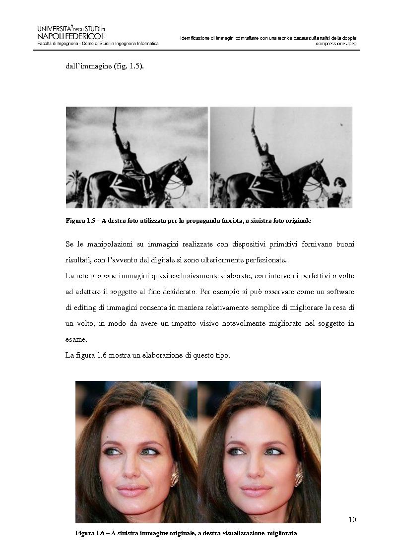 Anteprima della tesi: Identificazione di immagini contraffatte con una tecnica basata sull'analisi della doppia compressione Jpeg nello spazio di colori YCbCr, Pagina 7