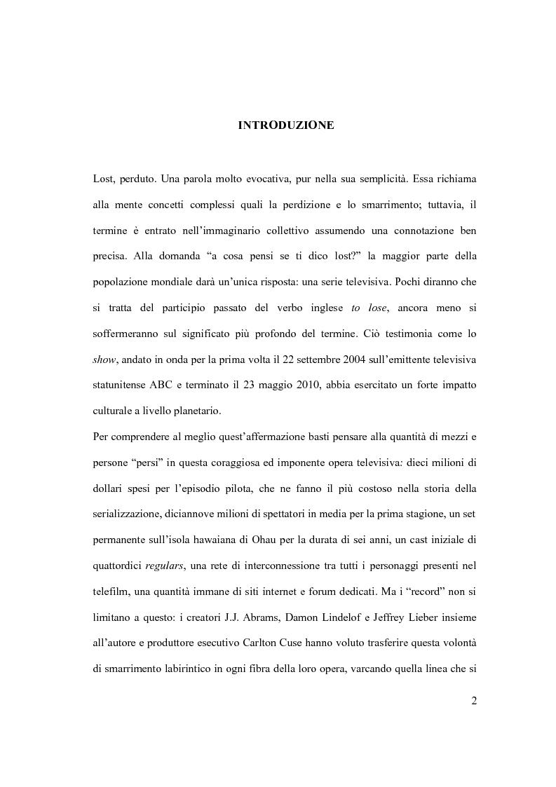 Anteprima della tesi: LOST in TIME: sperimentazioni temporali all'interno della struttura narrativa, Pagina 2