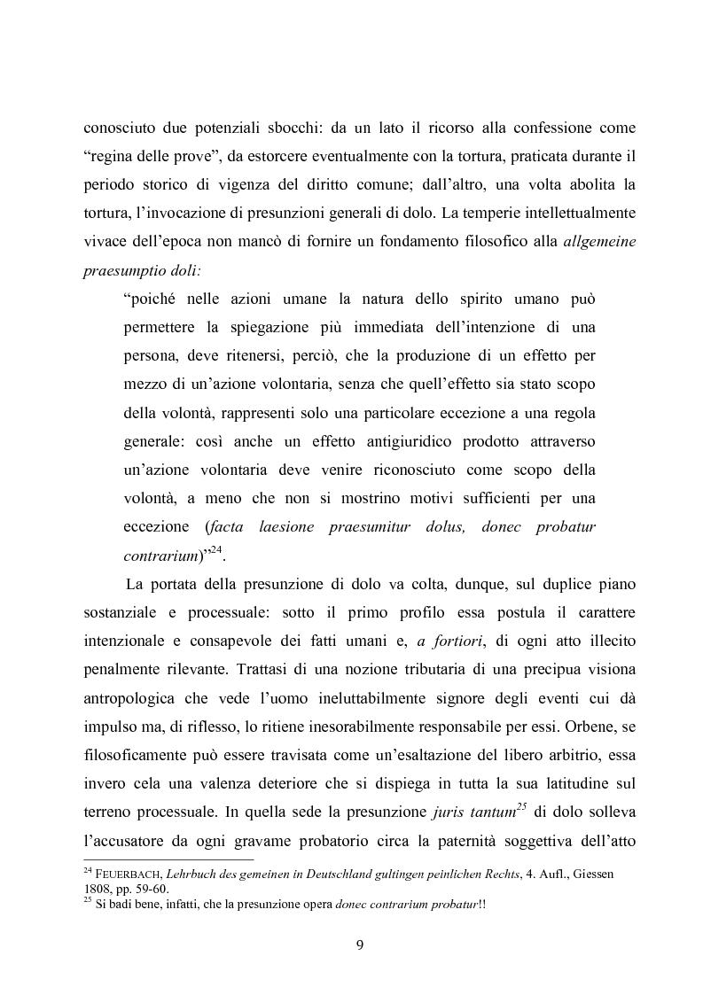 Anteprima della tesi: Dolus in re ipsa, Pagina 10