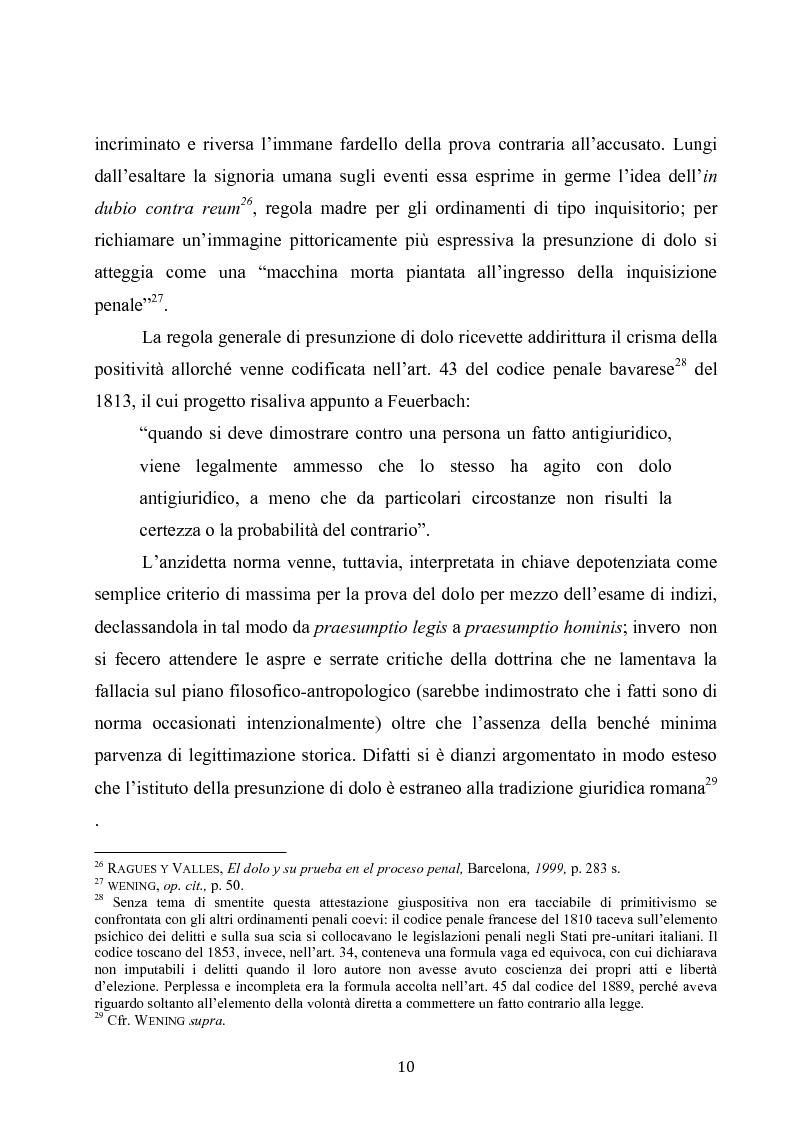 Anteprima della tesi: Dolus in re ipsa, Pagina 11