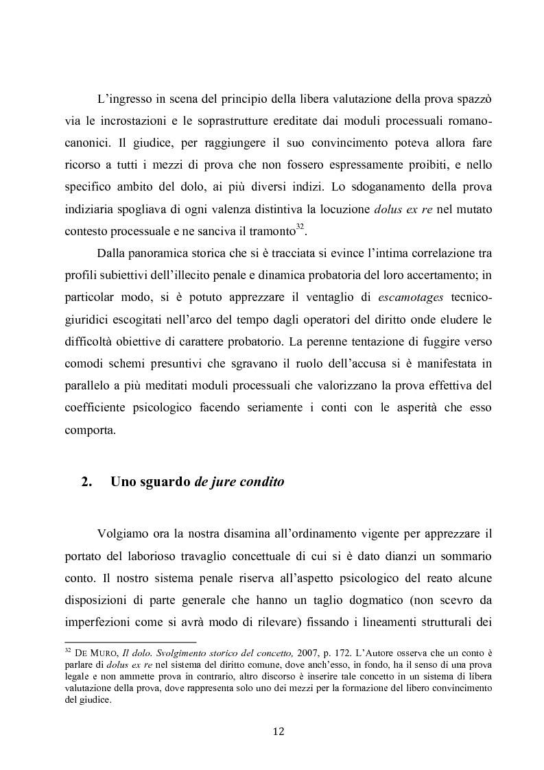 Anteprima della tesi: Dolus in re ipsa, Pagina 13