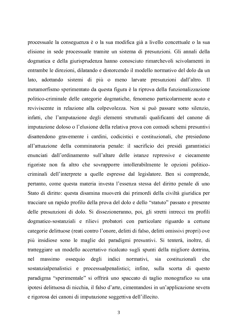 Anteprima della tesi: Dolus in re ipsa, Pagina 4
