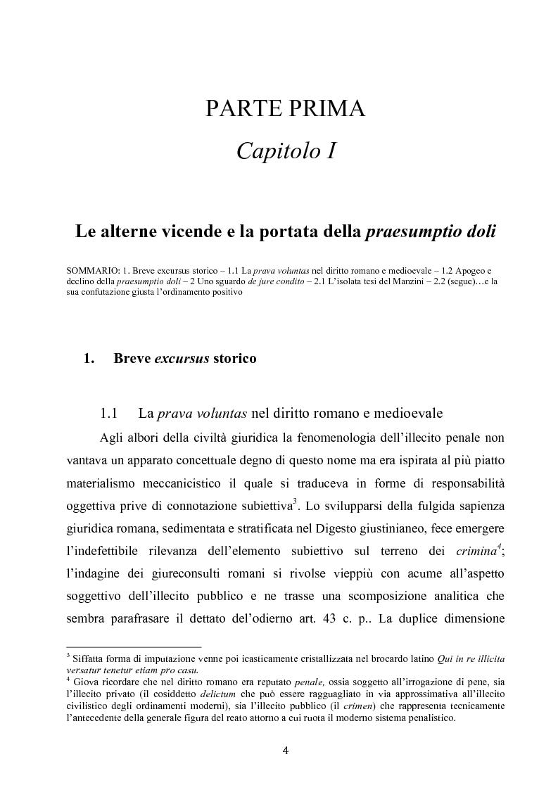 Anteprima della tesi: Dolus in re ipsa, Pagina 5