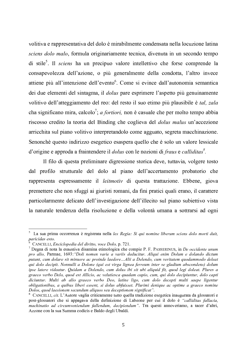 Anteprima della tesi: Dolus in re ipsa, Pagina 6