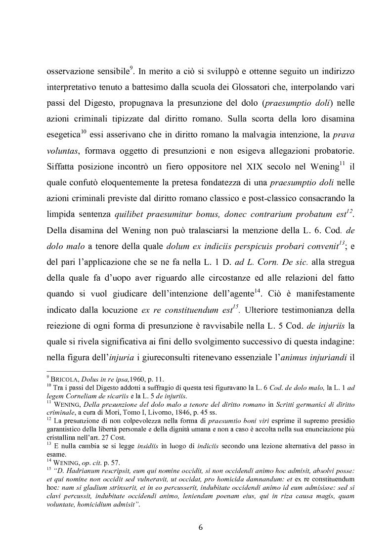Anteprima della tesi: Dolus in re ipsa, Pagina 7