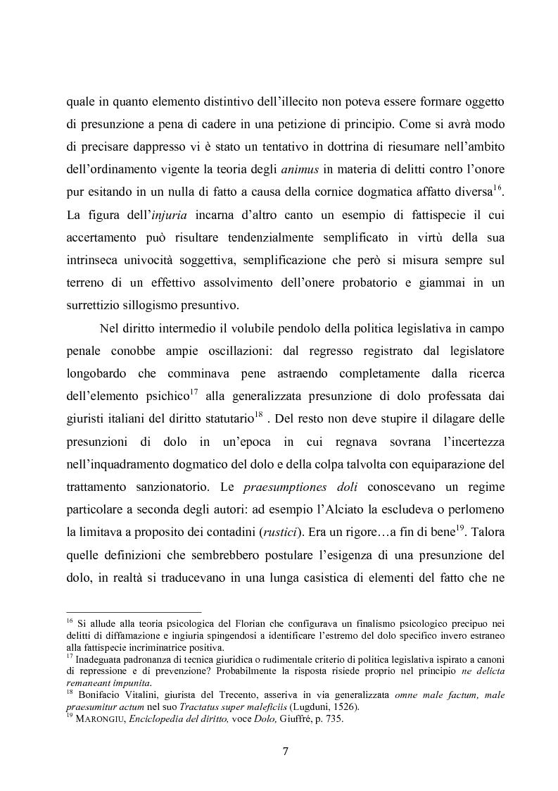 Anteprima della tesi: Dolus in re ipsa, Pagina 8