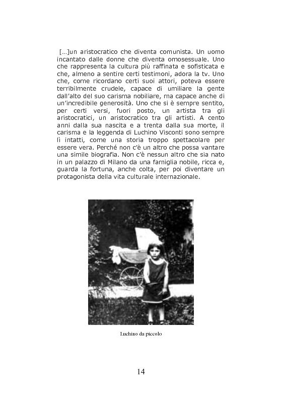 Anteprima della tesi: Nei Luoghi dell'anima di Luchino Visconti. Breve viaggio tra le case del regista, attraversando stanze, vita vissuta e ricordi, alla ricerca delle sue ispirazioni, Pagina 10