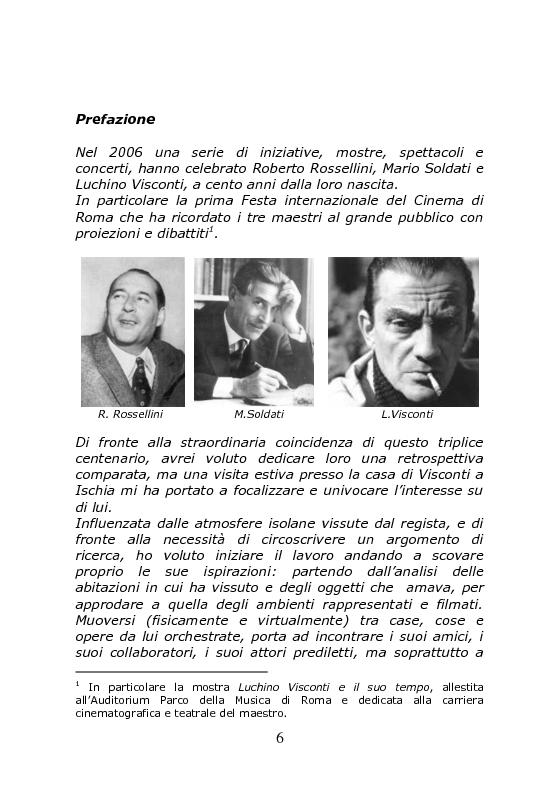 Anteprima della tesi: Nei Luoghi dell'anima di Luchino Visconti. Breve viaggio tra le case del regista, attraversando stanze, vita vissuta e ricordi, alla ricerca delle sue ispirazioni, Pagina 2