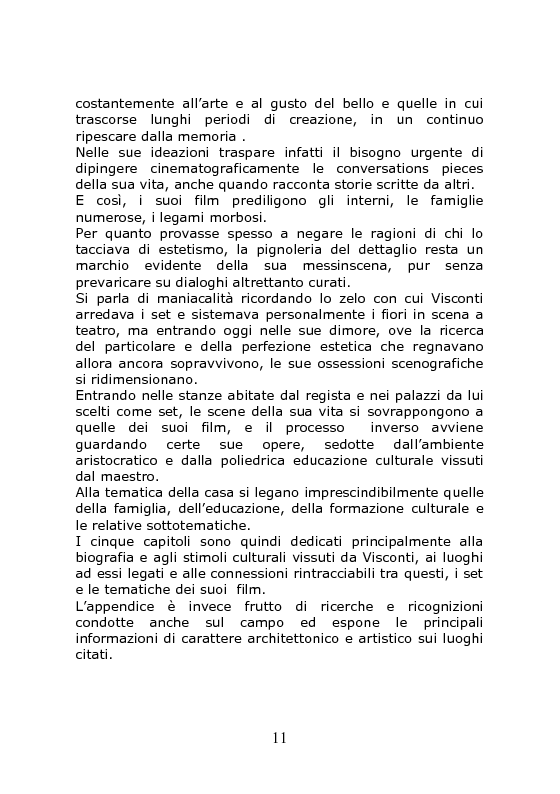 Anteprima della tesi: Nei Luoghi dell'anima di Luchino Visconti. Breve viaggio tra le case del regista, attraversando stanze, vita vissuta e ricordi, alla ricerca delle sue ispirazioni, Pagina 7