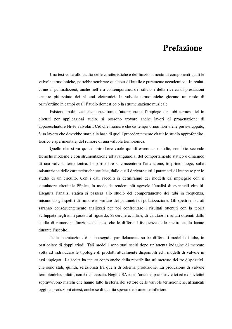 Anteprima della tesi: Caratterizzazione, modelling e studio del rumore di valvole termoioniche per applicazioni audio, Pagina 2