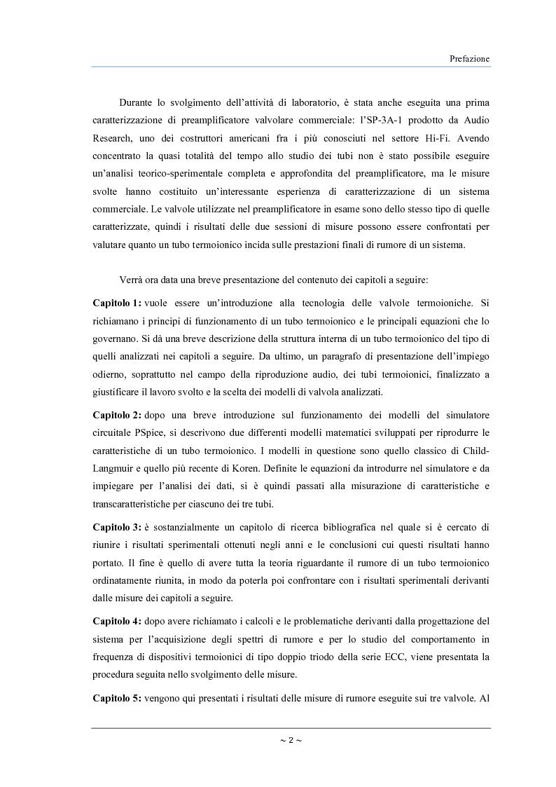 Anteprima della tesi: Caratterizzazione, modelling e studio del rumore di valvole termoioniche per applicazioni audio, Pagina 3