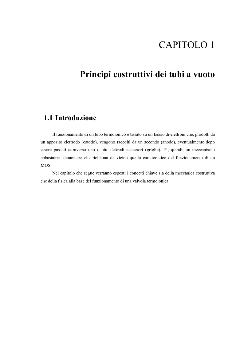 Anteprima della tesi: Caratterizzazione, modelling e studio del rumore di valvole termoioniche per applicazioni audio, Pagina 5