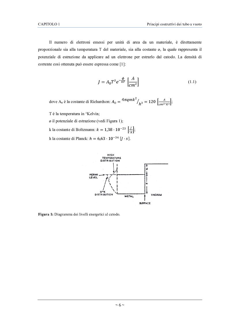 Anteprima della tesi: Caratterizzazione, modelling e studio del rumore di valvole termoioniche per applicazioni audio, Pagina 7