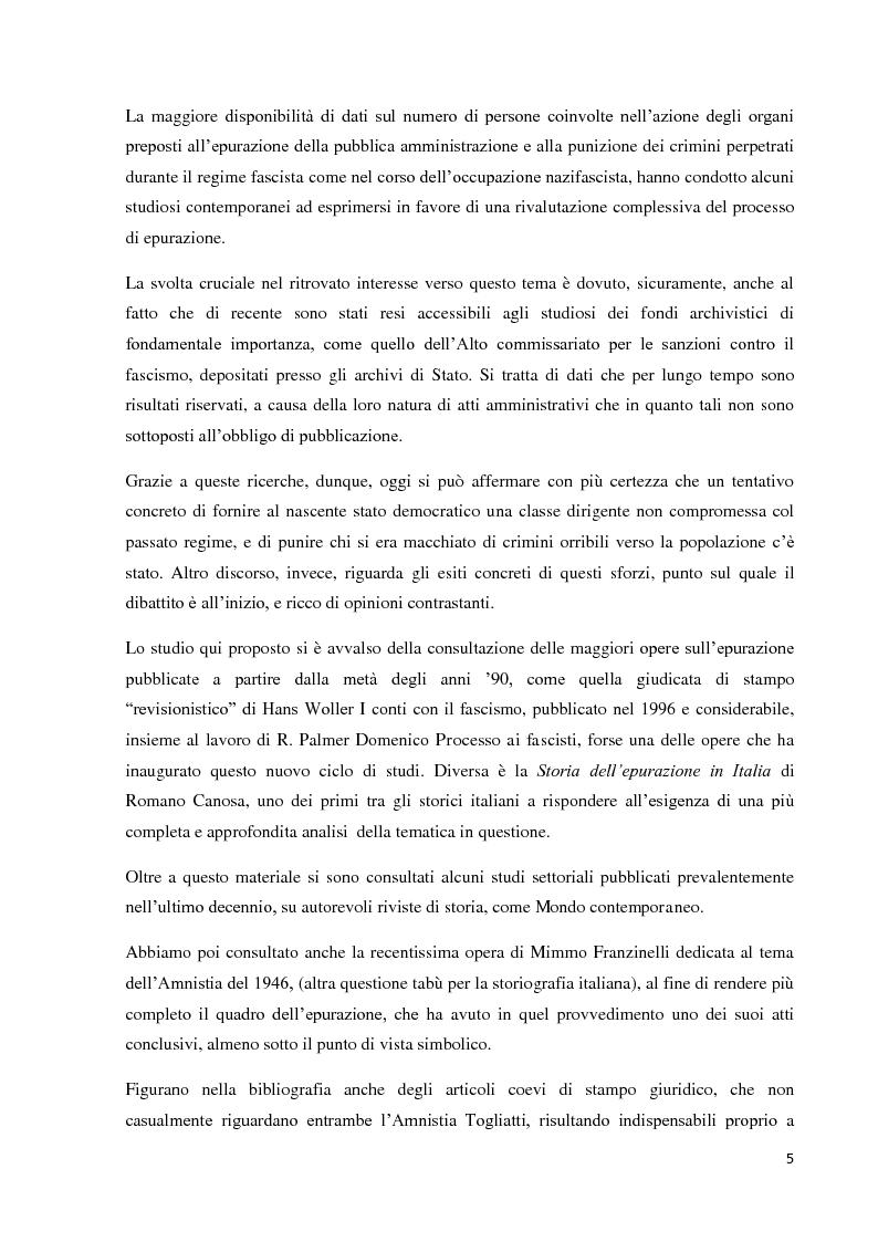 Anteprima della tesi: Un'eredità scomoda: dall'epurazione alla legge di Amnistia (1943-1948), Pagina 3