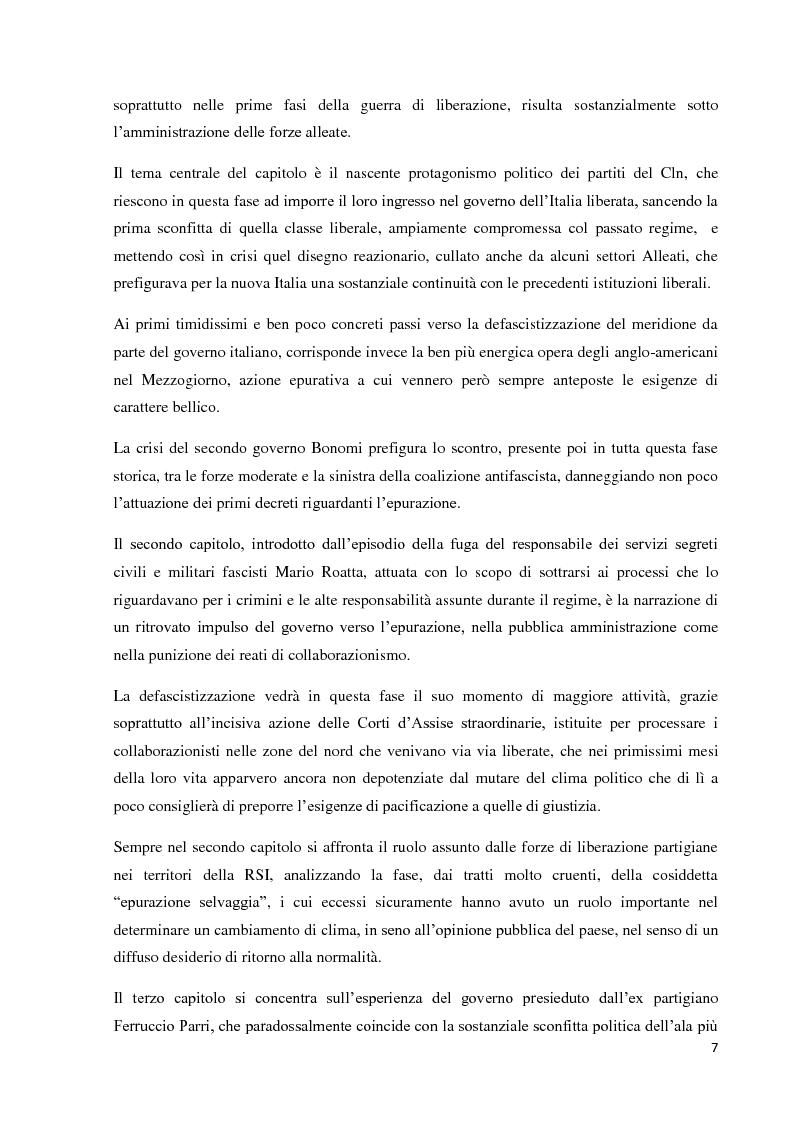 Anteprima della tesi: Un'eredità scomoda: dall'epurazione alla legge di Amnistia (1943-1948), Pagina 5