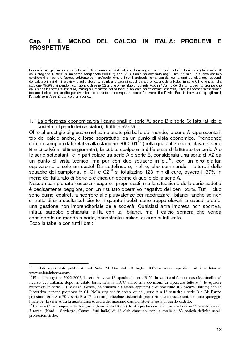 Anteprima della tesi: Progetto A.C. Siena: l'evoluzione della società e il ruolo strategico della comunicazione per la sfida della serie A, Pagina 11