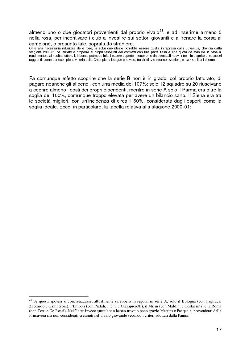 Anteprima della tesi: Progetto A.C. Siena: l'evoluzione della società e il ruolo strategico della comunicazione per la sfida della serie A, Pagina 15