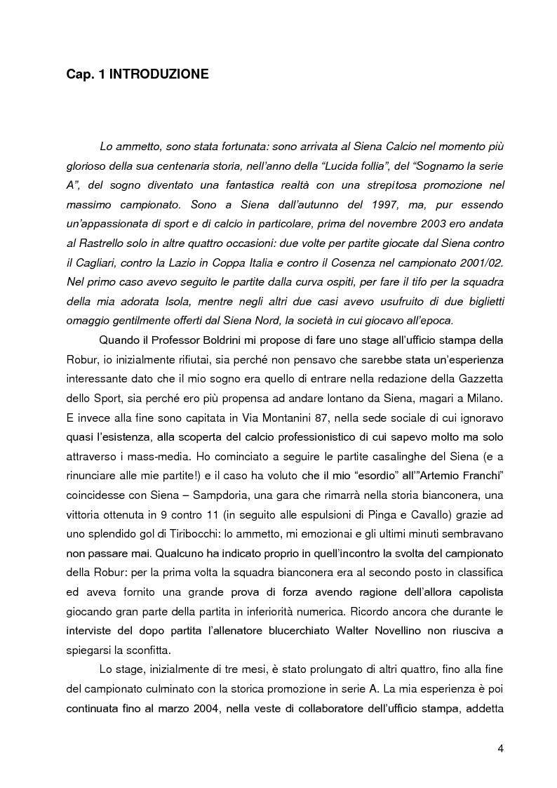 Anteprima della tesi: Progetto A.C. Siena: l'evoluzione della società e il ruolo strategico della comunicazione per la sfida della serie A, Pagina 2