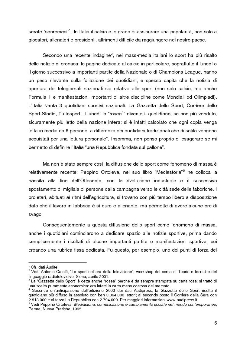 Anteprima della tesi: Progetto A.C. Siena: l'evoluzione della società e il ruolo strategico della comunicazione per la sfida della serie A, Pagina 4