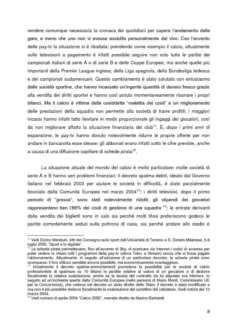 Anteprima della tesi: Progetto A.C. Siena: l'evoluzione della società e il ruolo strategico della comunicazione per la sfida della serie A, Pagina 6