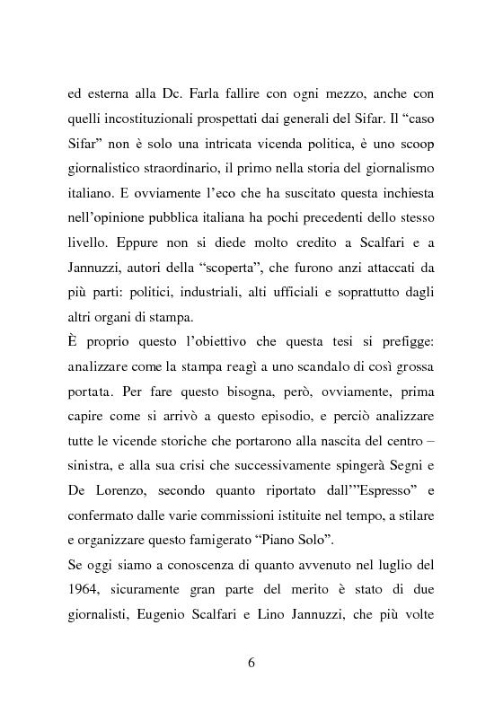 Anteprima della tesi: Lo scoop sul caso Sifar, Pagina 3