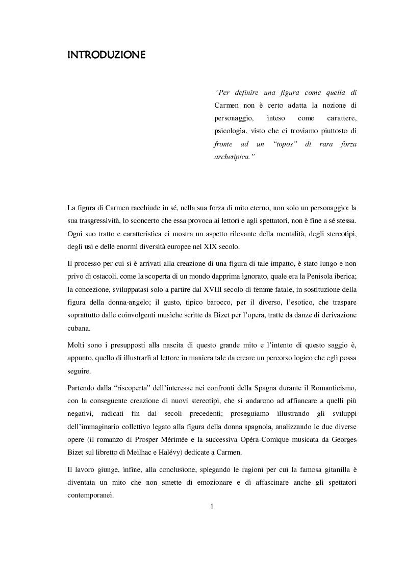 Anteprima della tesi: Carmen: un'immagine della Spagna nell'800, Pagina 2