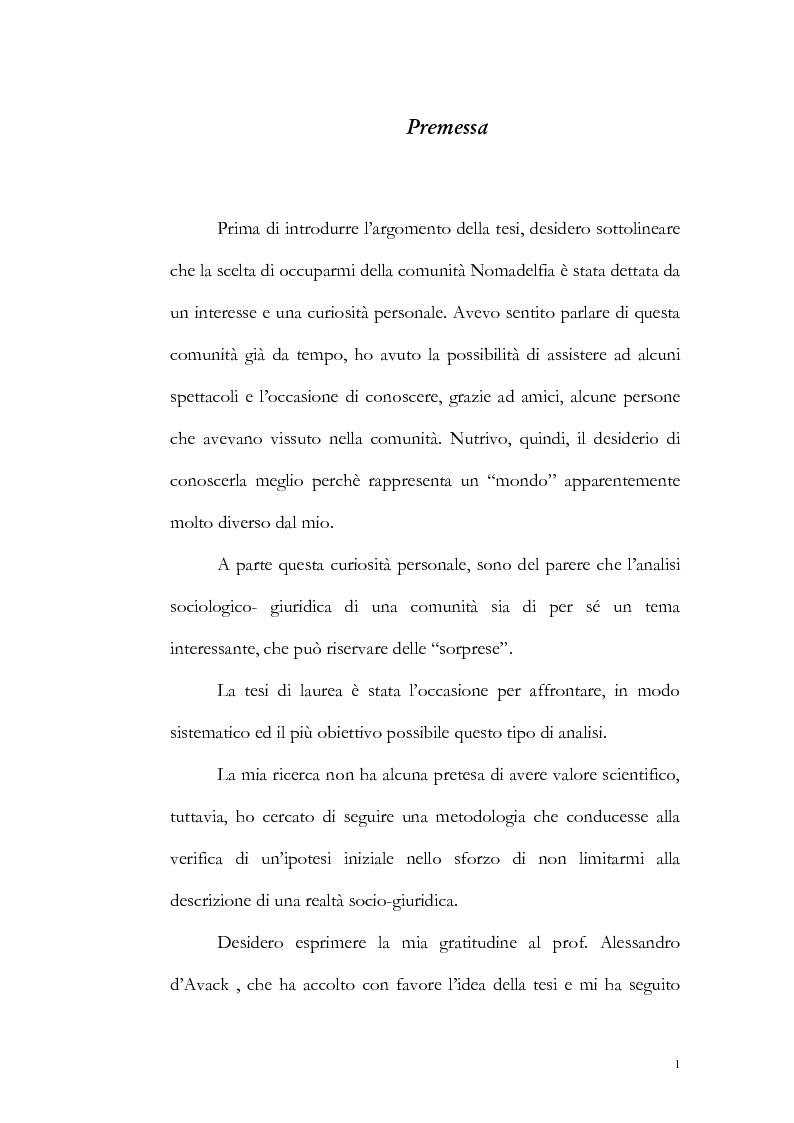 Anteprima della tesi: Un particolare modello di associazione cristiana: Nomadelfia, Pagina 2