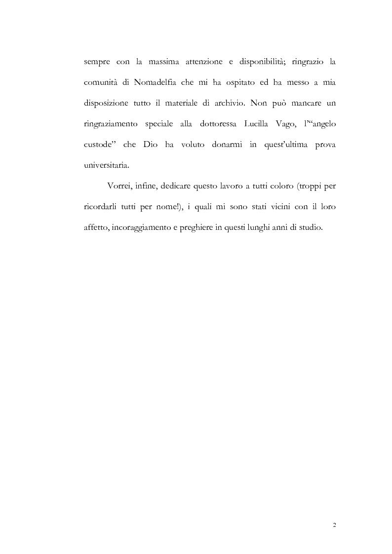 Anteprima della tesi: Un particolare modello di associazione cristiana: Nomadelfia, Pagina 3