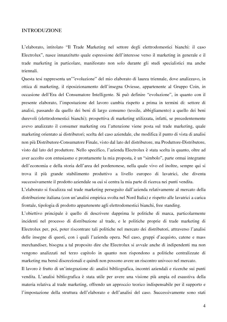 Anteprima della tesi: Il trade marketing nel settore degli elettrodomestici bianchi: il caso Electrolux, Pagina 2