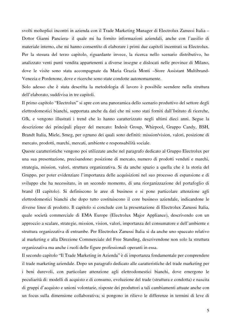 Anteprima della tesi: Il trade marketing nel settore degli elettrodomestici bianchi: il caso Electrolux, Pagina 3