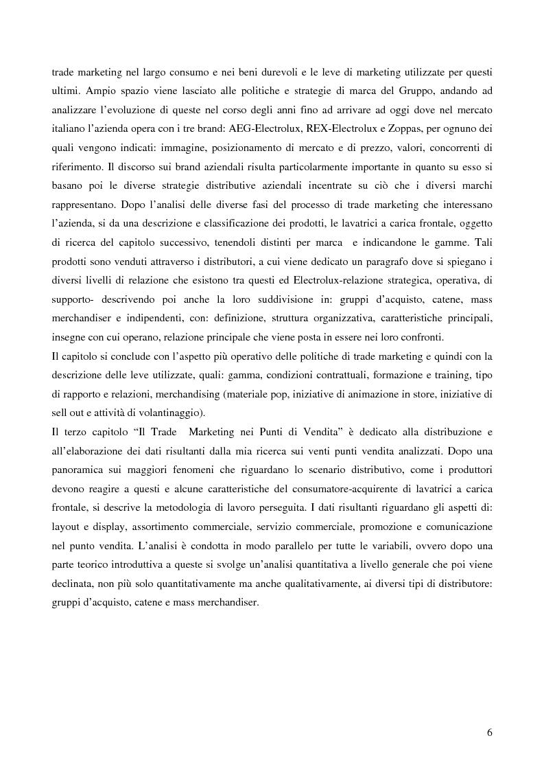 Anteprima della tesi: Il trade marketing nel settore degli elettrodomestici bianchi: il caso Electrolux, Pagina 4