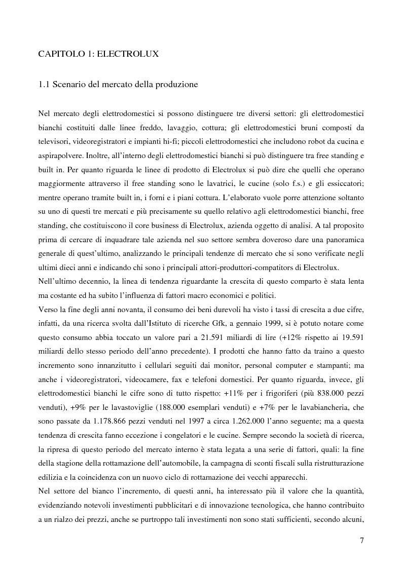 Anteprima della tesi: Il trade marketing nel settore degli elettrodomestici bianchi: il caso Electrolux, Pagina 5