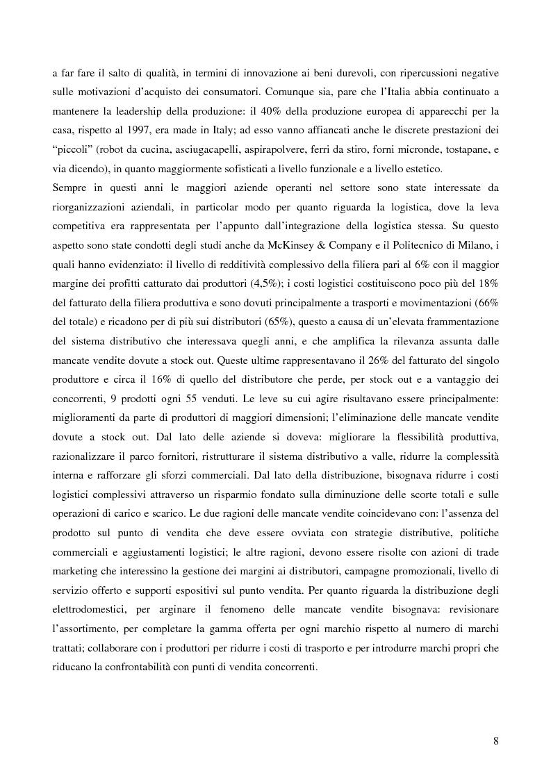 Anteprima della tesi: Il trade marketing nel settore degli elettrodomestici bianchi: il caso Electrolux, Pagina 6