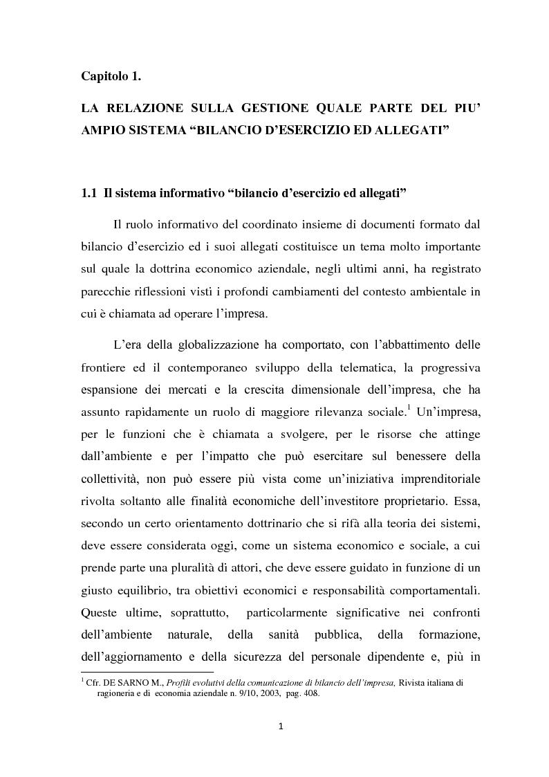 Anteprima della tesi: Il ruolo informativo della relazione sulla gestione, Pagina 2