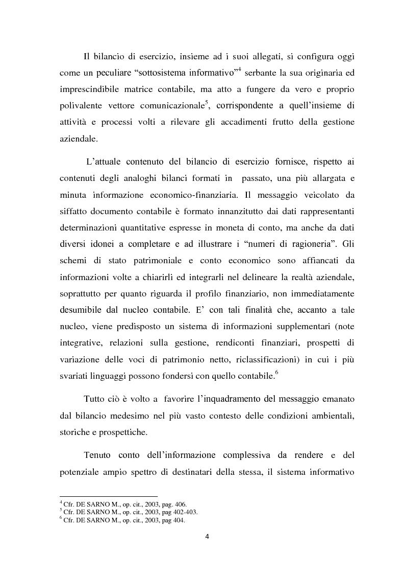 Anteprima della tesi: Il ruolo informativo della relazione sulla gestione, Pagina 5