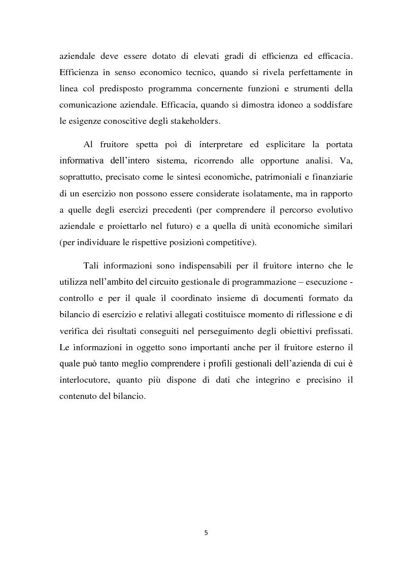 Anteprima della tesi: Il ruolo informativo della relazione sulla gestione, Pagina 6