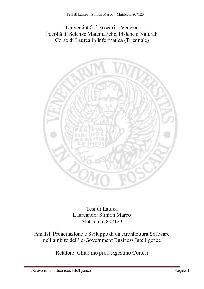 Anteprima tesi laurea triennale analisi progettazione for Progettazione di architettura online