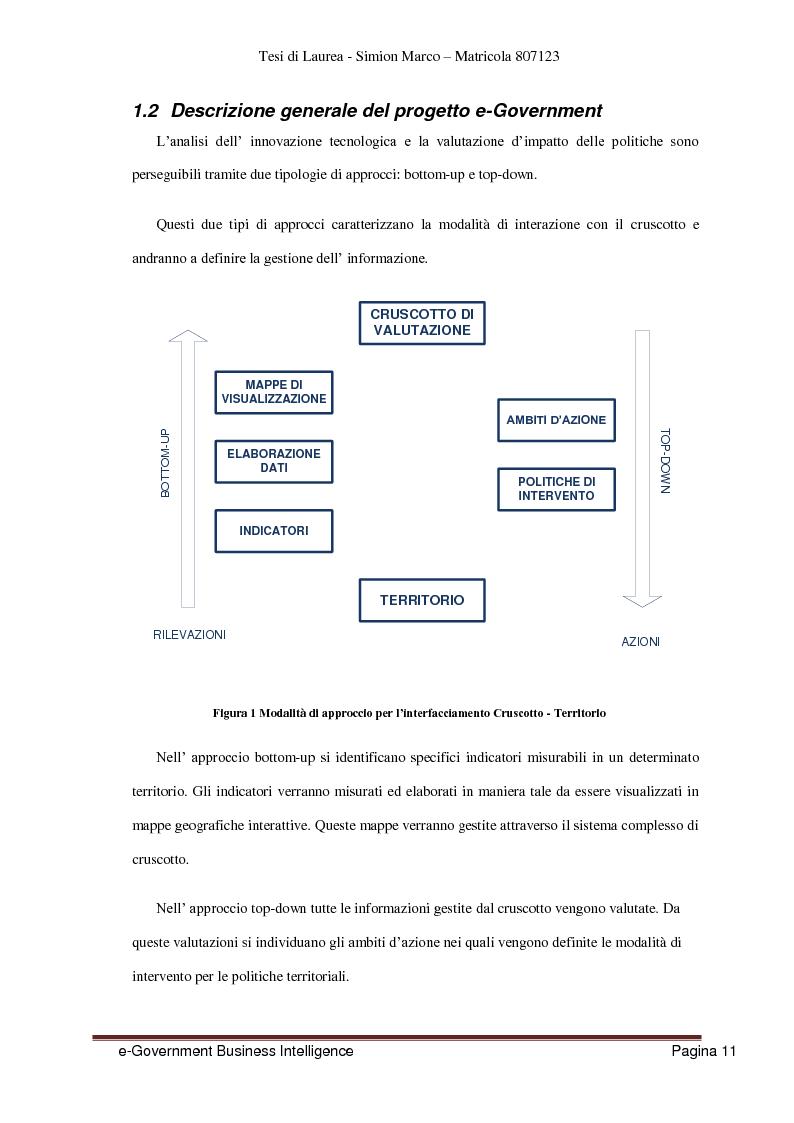 Anteprima della tesi: Analisi, Progettazione e Sviluppo di un Architettura Software nell'ambito dell'e-Government Business Intelligence, Pagina 3