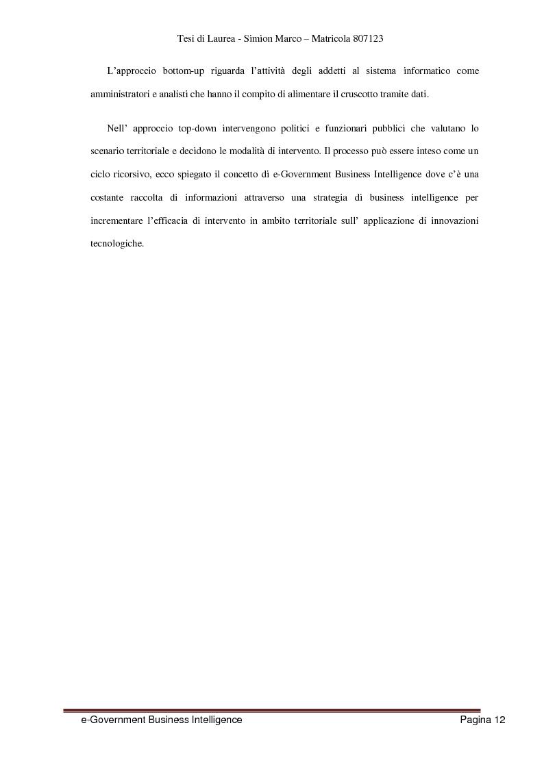 Anteprima della tesi: Analisi, Progettazione e Sviluppo di un Architettura Software nell'ambito dell'e-Government Business Intelligence, Pagina 4
