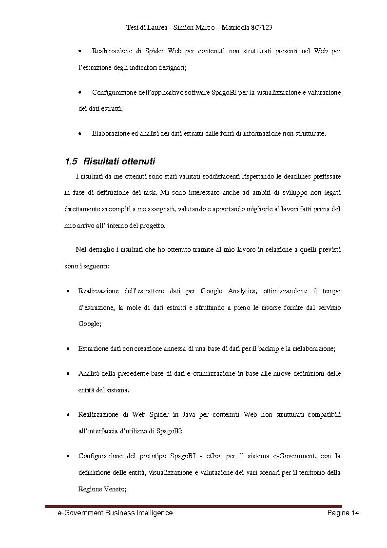 Anteprima della tesi: Analisi, Progettazione e Sviluppo di un Architettura Software nell'ambito dell'e-Government Business Intelligence, Pagina 6