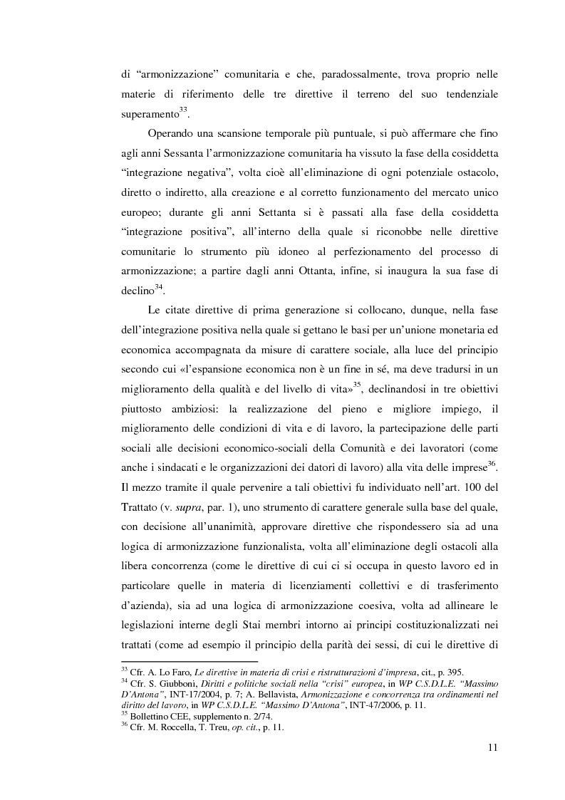 Anteprima della tesi: Le direttive comunitarie in materia di crisi e ristrutturazione d'impresa, Pagina 10