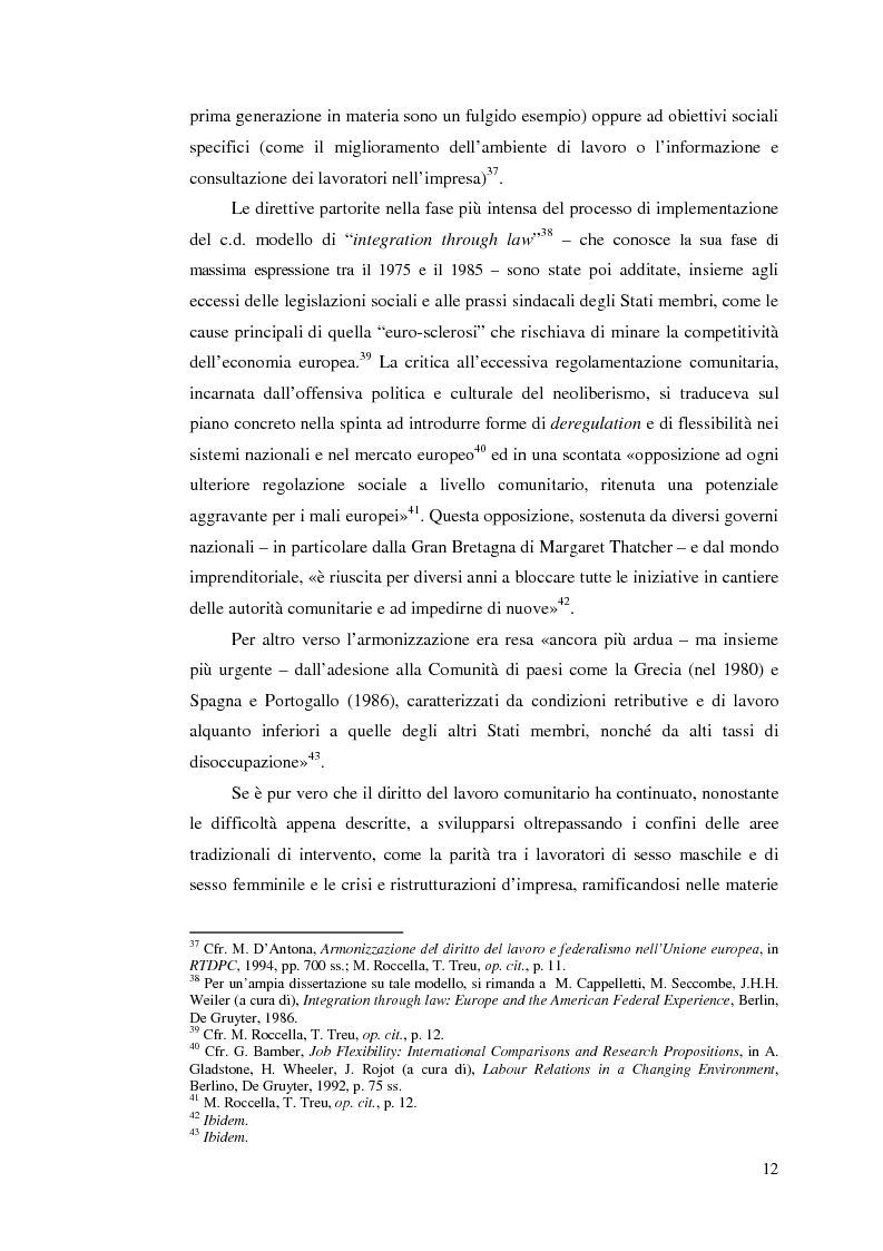 Anteprima della tesi: Le direttive comunitarie in materia di crisi e ristrutturazione d'impresa, Pagina 11