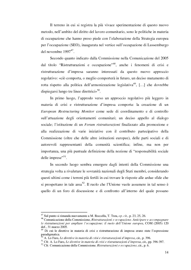 Anteprima della tesi: Le direttive comunitarie in materia di crisi e ristrutturazione d'impresa, Pagina 13