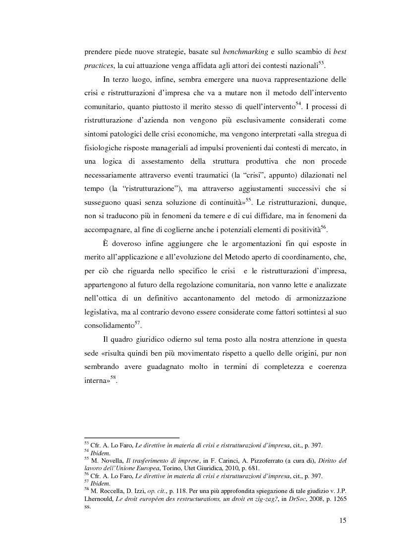 Anteprima della tesi: Le direttive comunitarie in materia di crisi e ristrutturazione d'impresa, Pagina 14