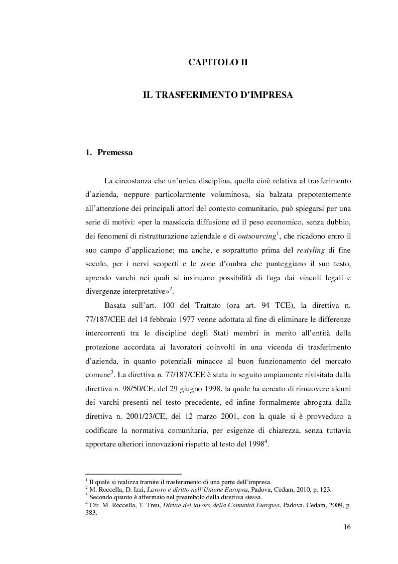 Anteprima della tesi: Le direttive comunitarie in materia di crisi e ristrutturazione d'impresa, Pagina 15